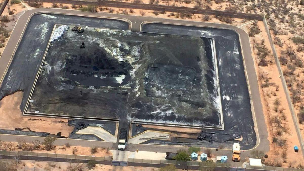 Se encuentra al aire libre el depósito de ceniza tóxica de la Termoeléctrica